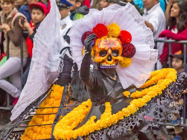 Desfile de muertos (Foto: Ivonne Gutiérrez)