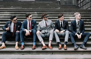 Five gents show off their best threads at Dappertude