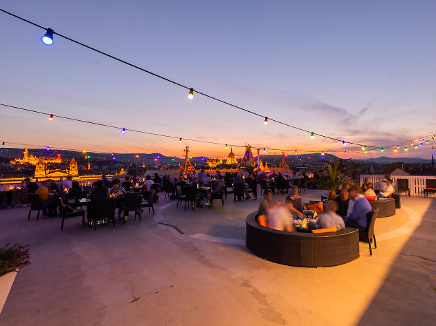 Intermezzo rooftop bar in Budapest