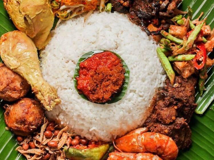 Savour the flavour of nasi padang at Hjh Maimunah