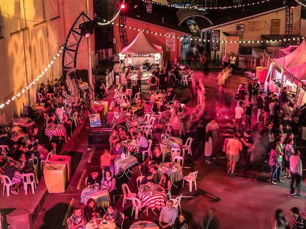 Laneway eating area at Parramatta Lanes