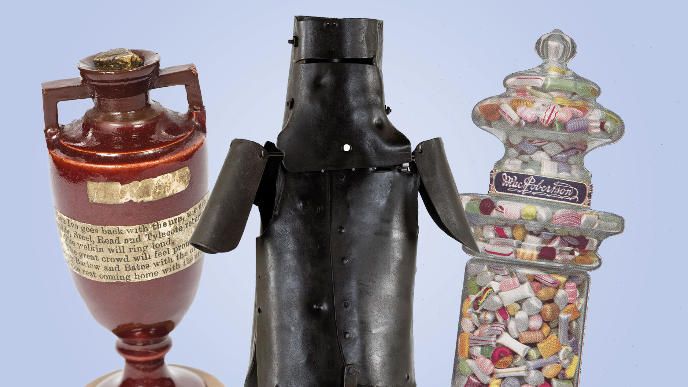 Ashes, Ned Kelly's Armour and MacRobinson's sweets