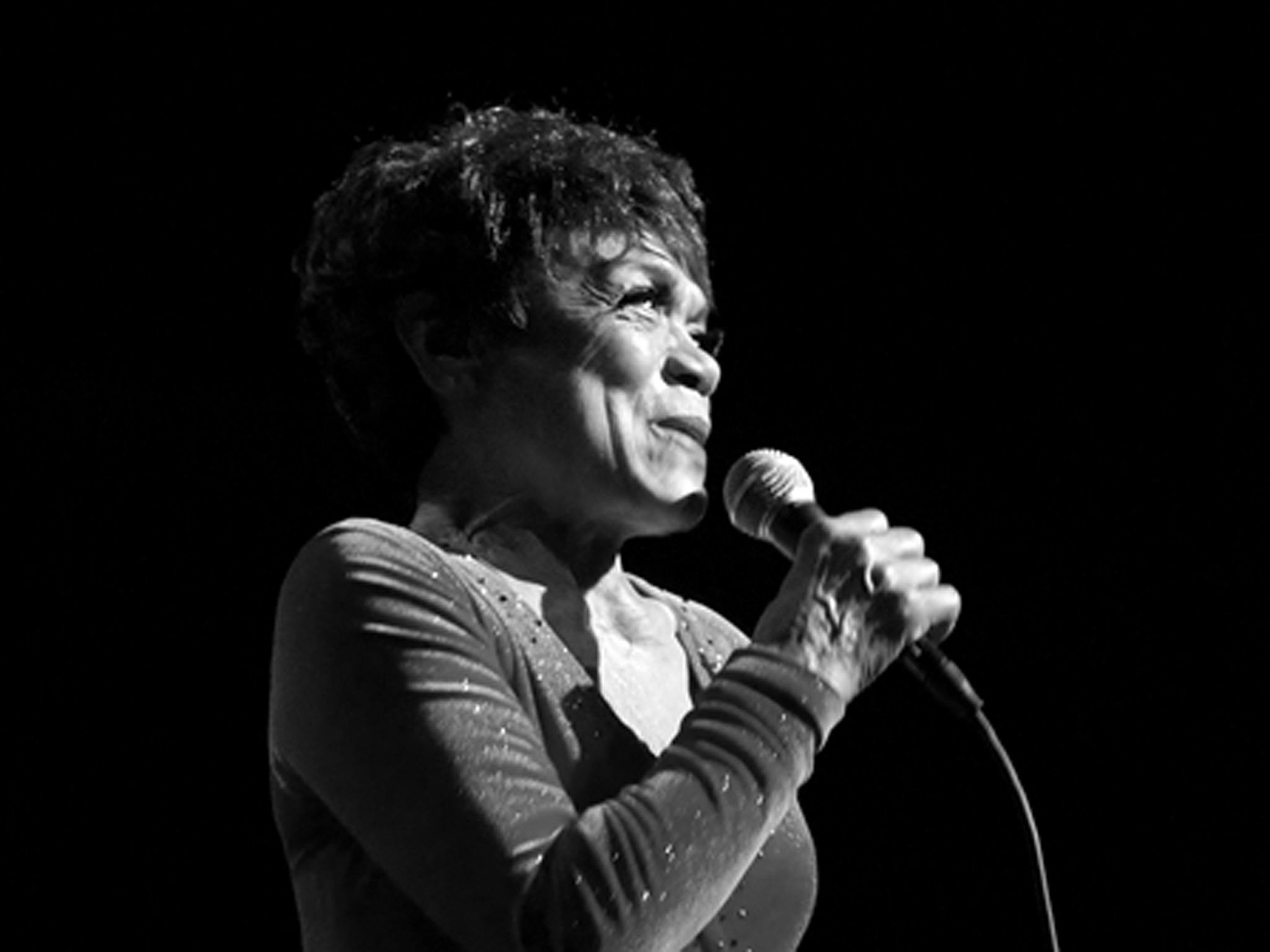 Eartha Kitt on stage in 2007