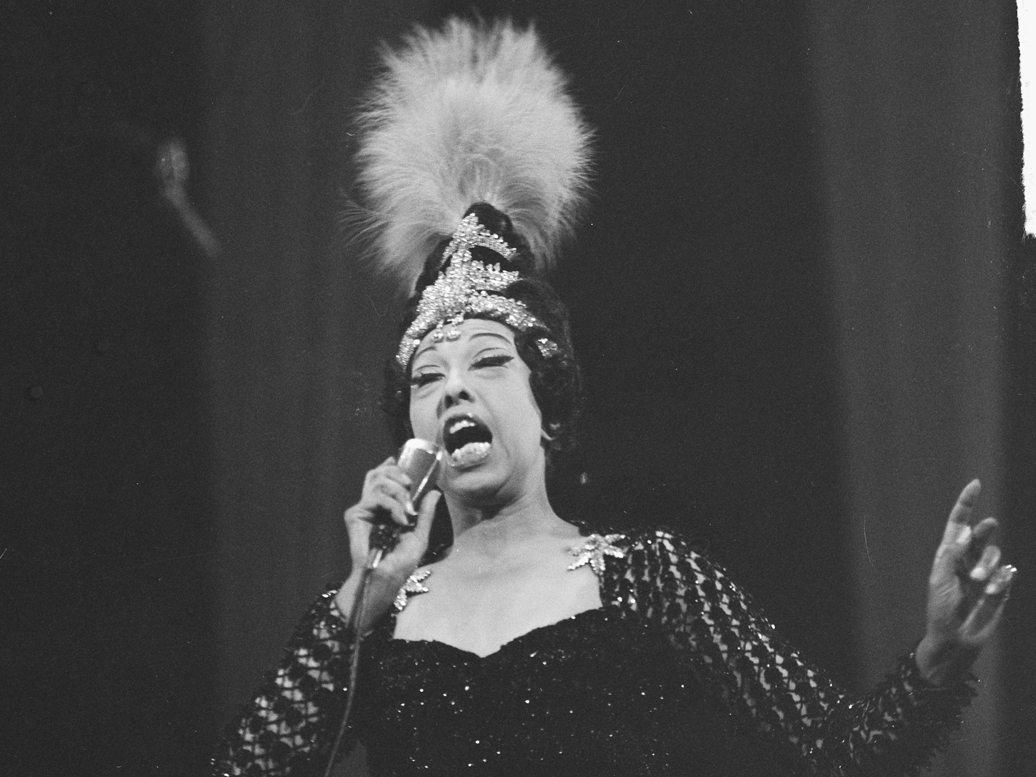 Josephine Baker on stage in 1967