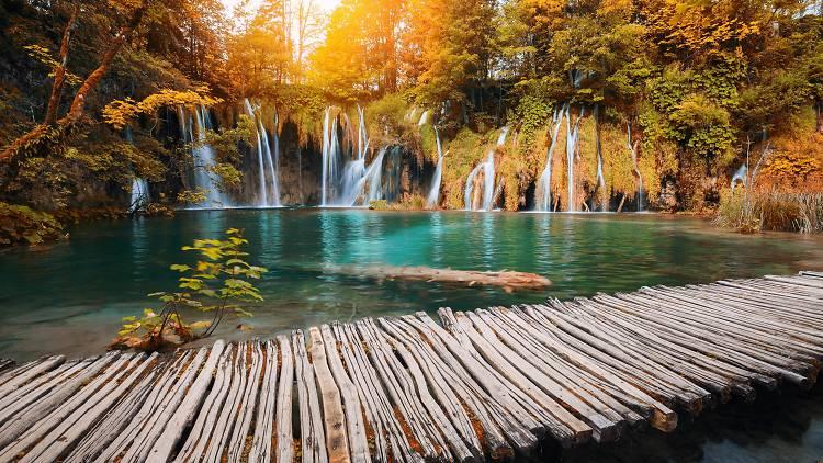 Plitvice Lakes National Park in autumn