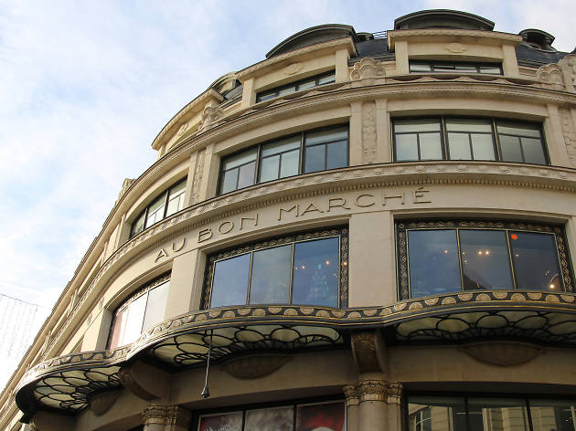 The exterior of Le Bon Marché department store in Paris