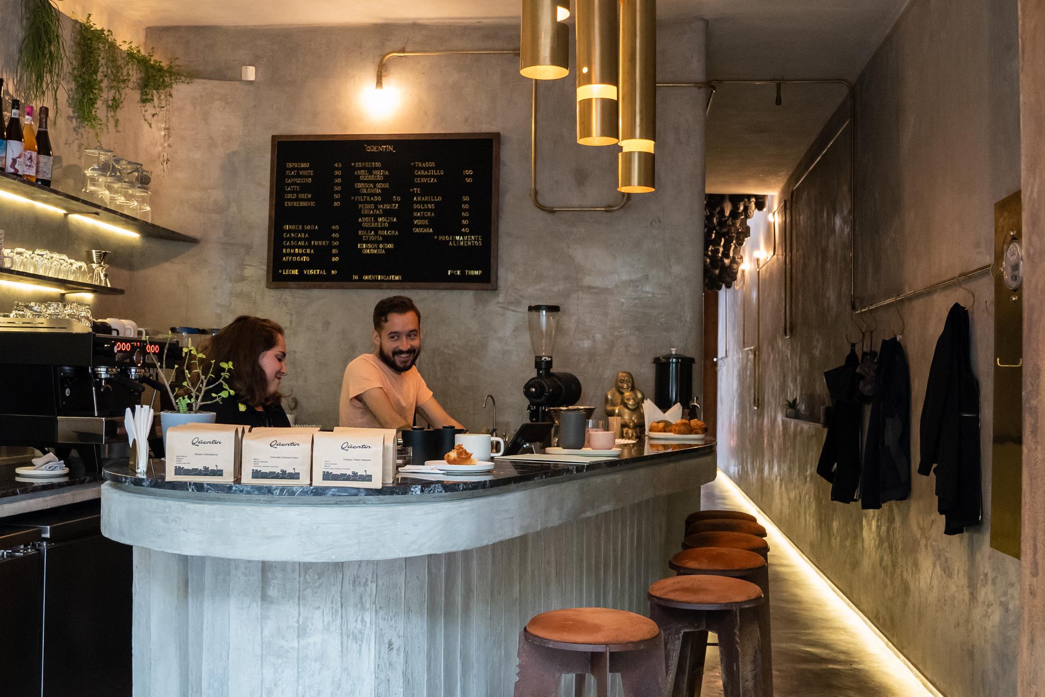 Quentin en la Condesa, para amantes del café