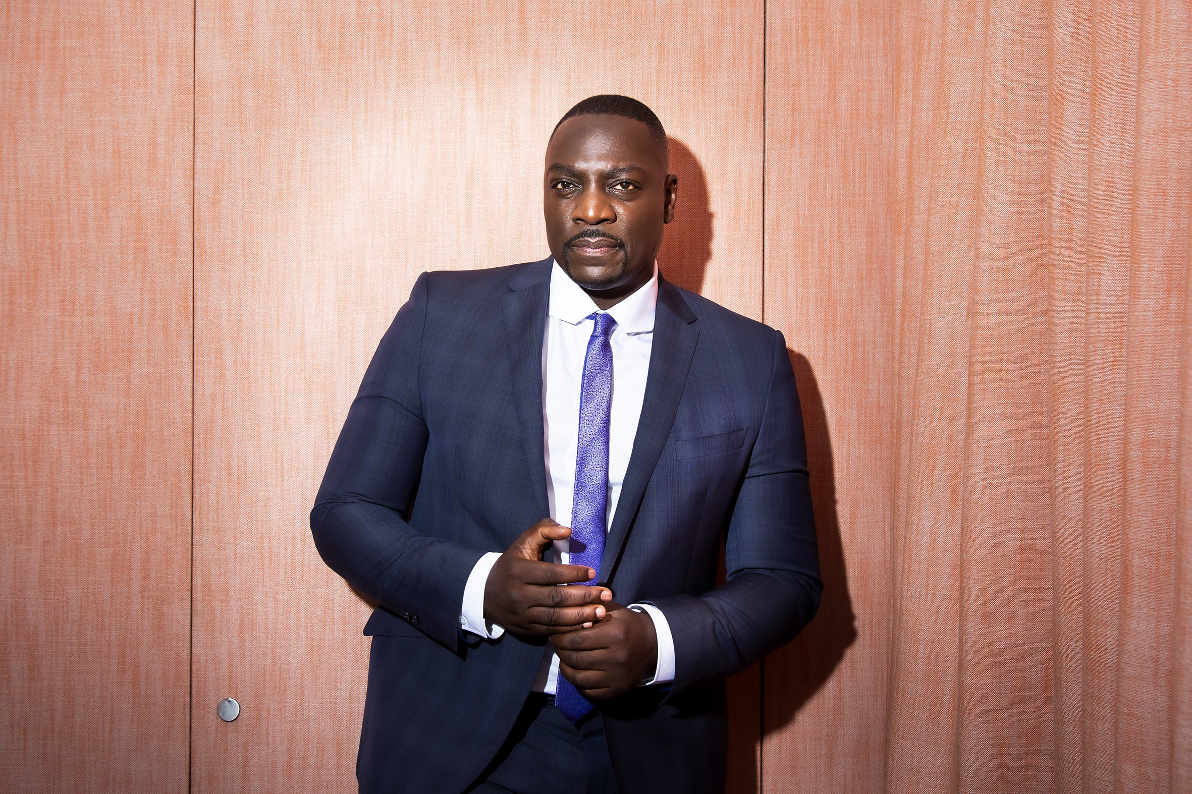 Adewale Akinnuoye-Agbaje, British actor, director, and former fashion model photographed for Time Out London, promoting his film 'Farming'.