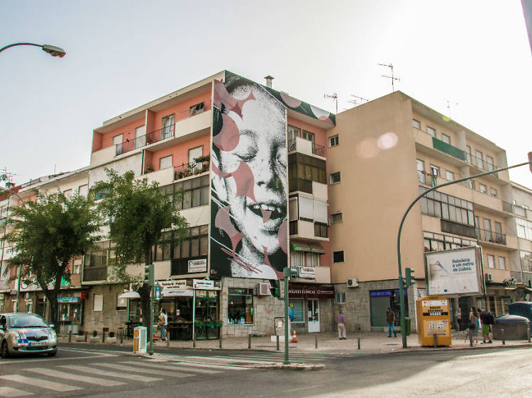 Roteiro de arte urbana na Amadora