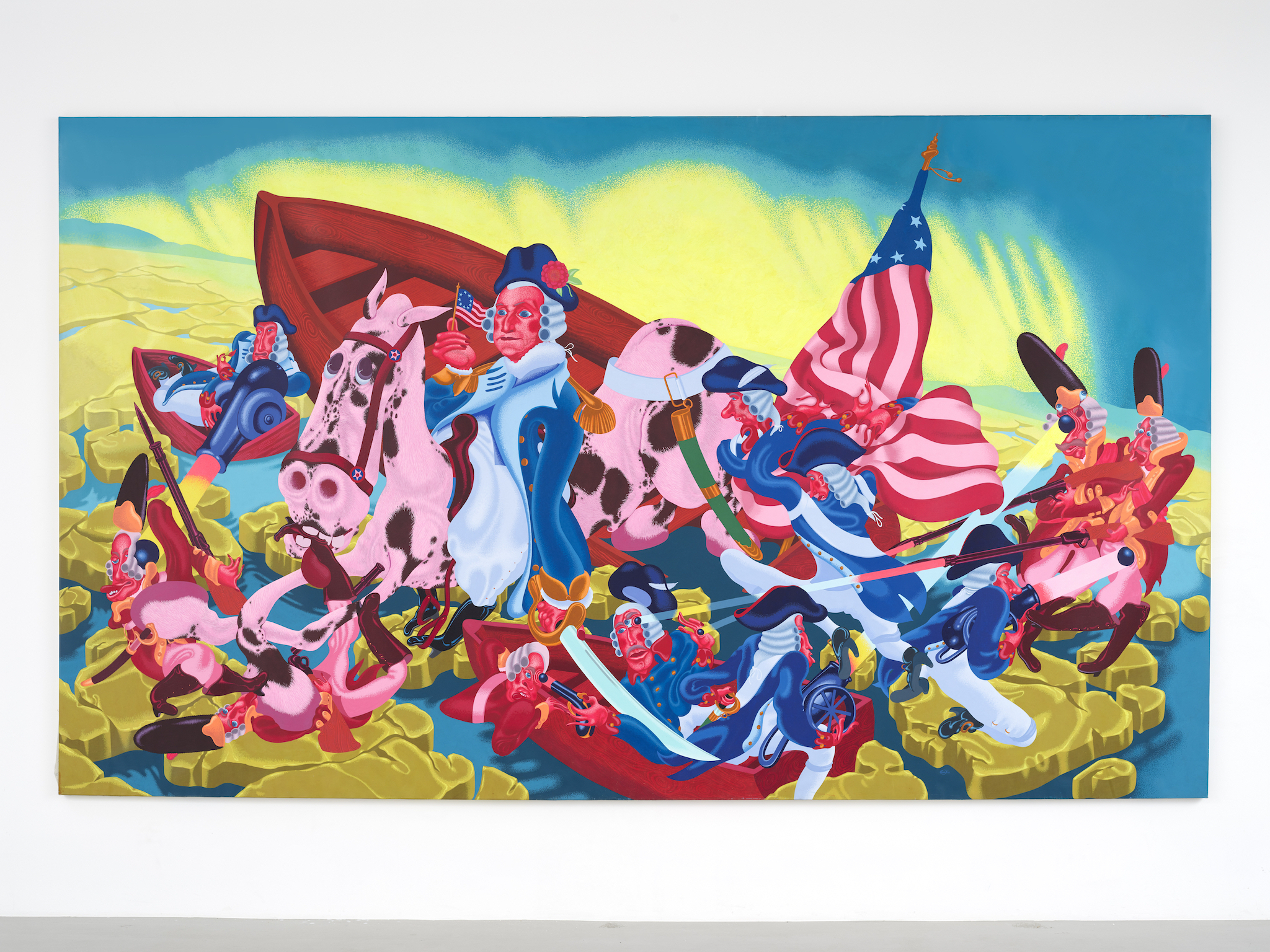 Peter Saul, Washington Crossing the Delaware, 1975