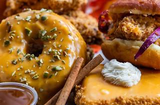 Pumpkin spice doughnuts Astro Fried Chicken
