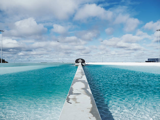 Lagoon filled at Urbnsurf surf park