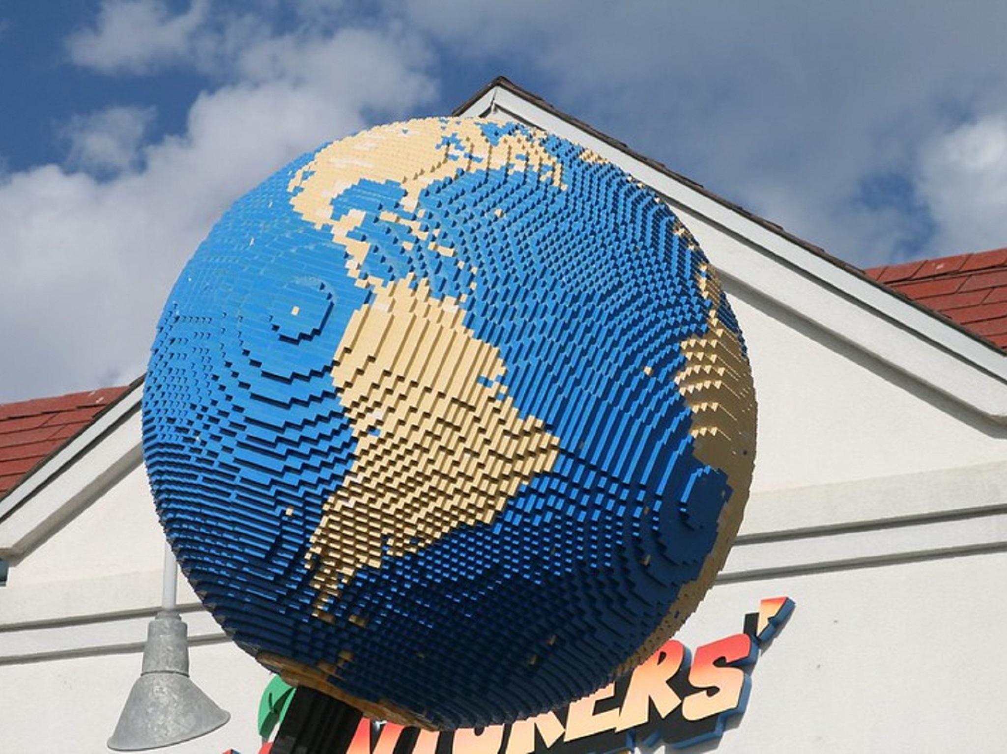 A lego globe