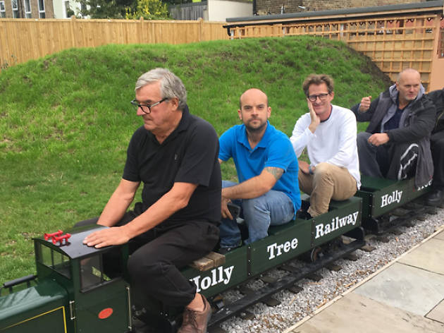 There's a pub with its own railway opening in London