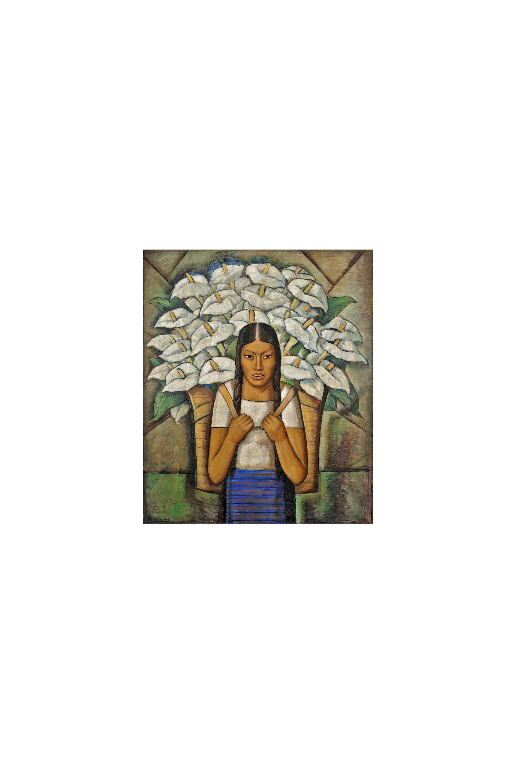 Alfredo Ramos Martínez. Calla Lily Vendor (Vendedora de Alcatraces), 1929