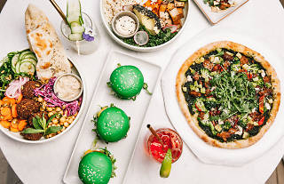 Eden, Bondi plant-based spread with pizza, bowls and burgers