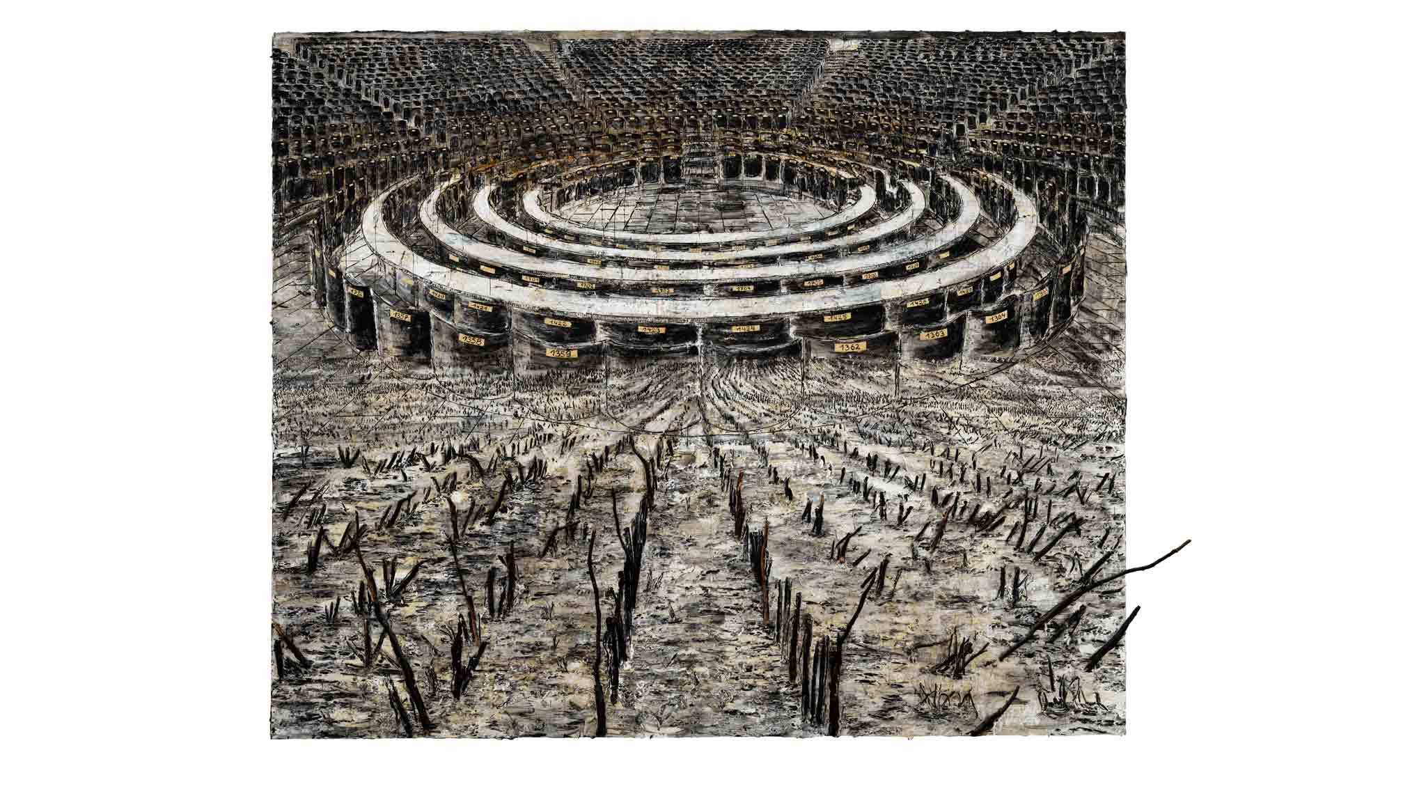 Anselm Kiefer: 'Superstrings, Runes, The Norns, Gordian Knot'