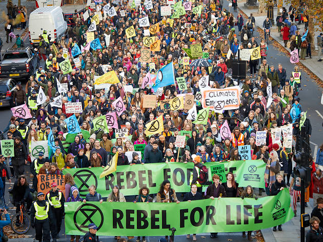 A year of climate protests in London