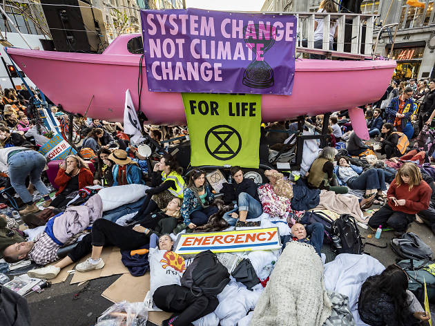 Extinction Rebellion climate change demonstration, London, UK