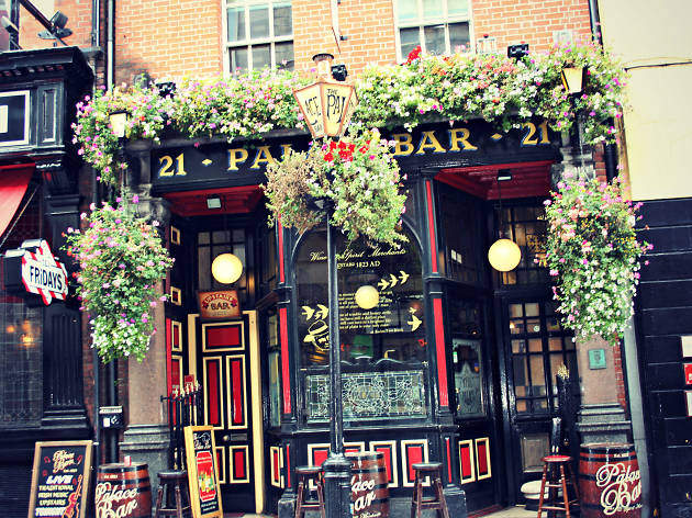 The exterior of Palace Bar pub in Dublin