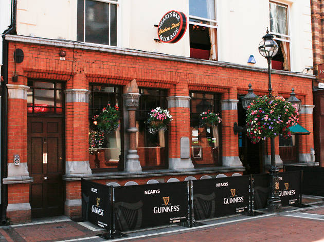 The exterior of Nearys pub in Dublin