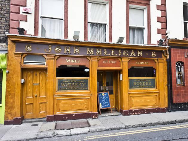 The exterior of Mulligan's pub in Dublin