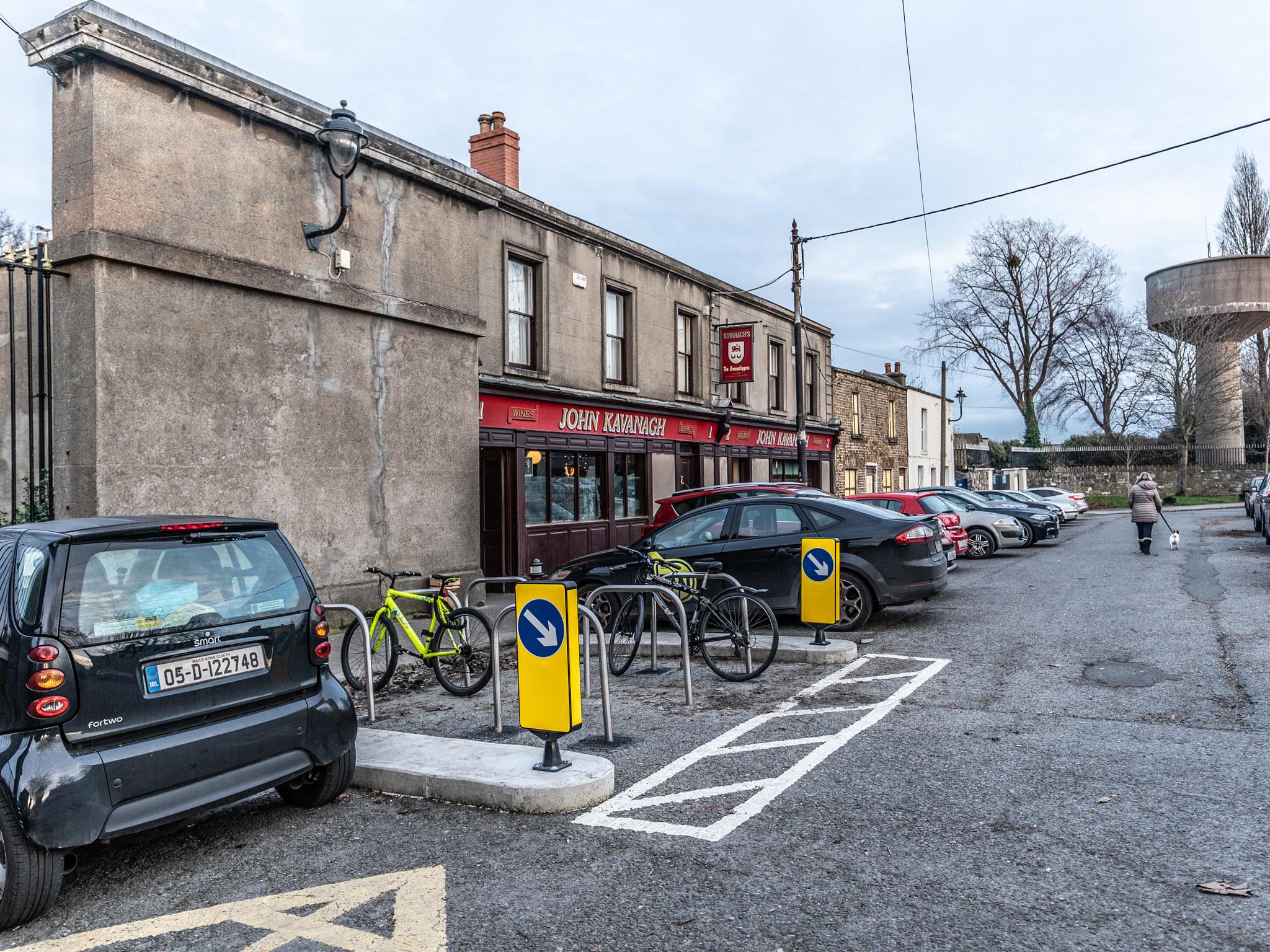 The exterior of Gravediggers pub in Dublin