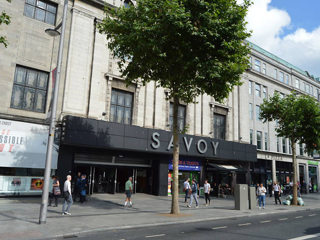 The exterior of Savoy Theatre cinema in Dublin