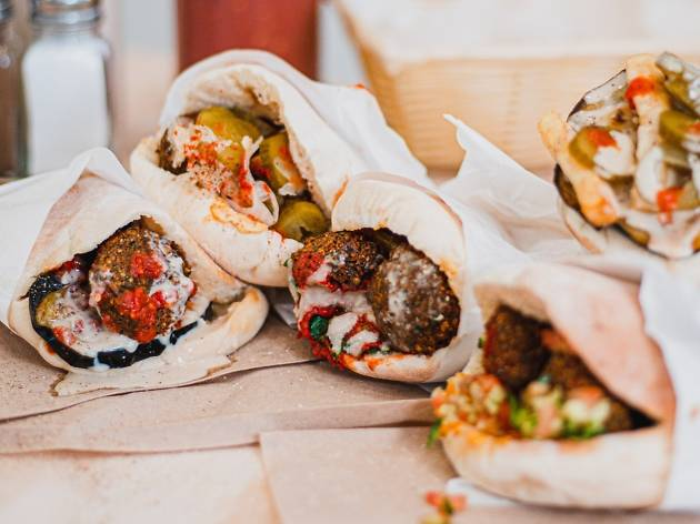 You can get unlimited free falafel and pita in Waverley today and tomorrow