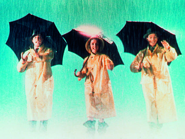 A still from the 1952 movie musical Singin' In the Rain