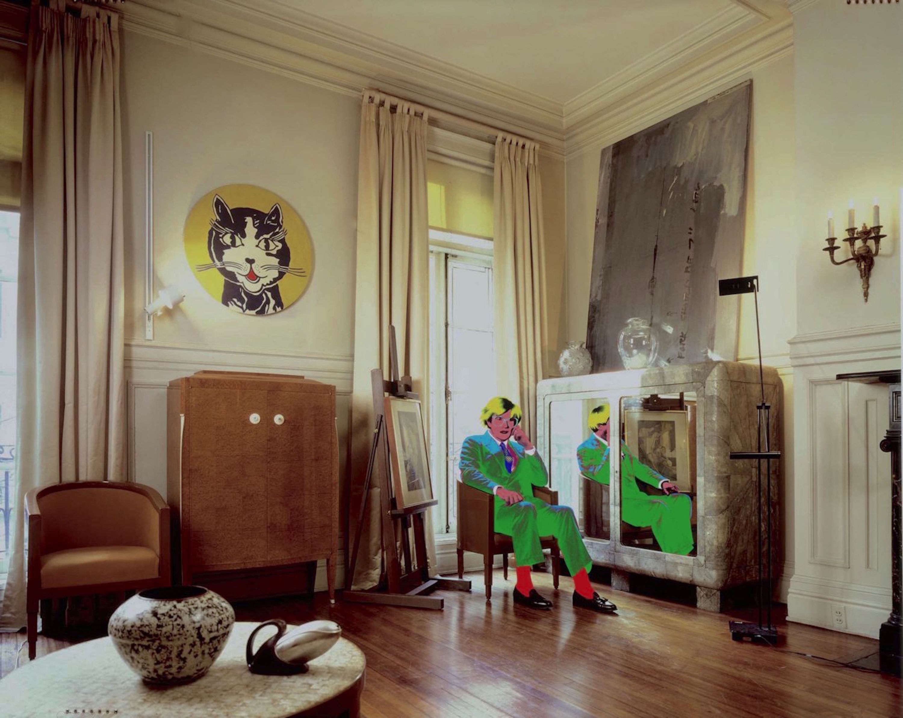 Andy Warhol's Living Room, East 66 Street NYC 1987