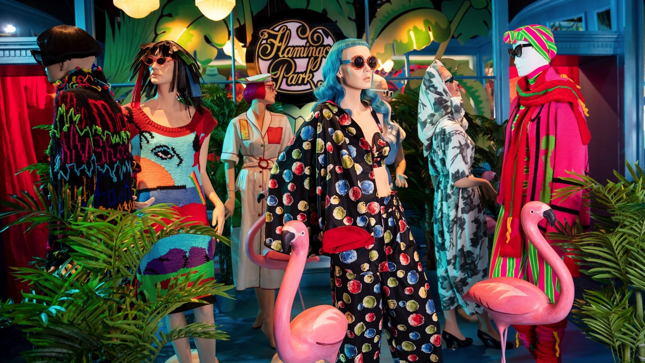Inside exhibition - powerhouse - Jenny Kee and Linda Jackson - S