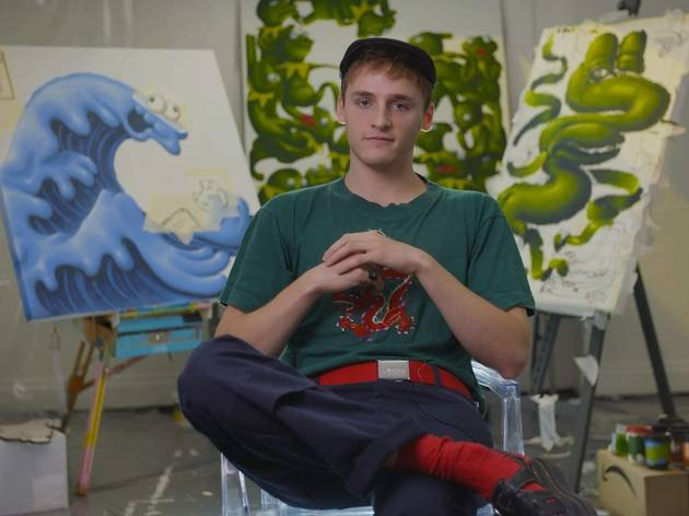 This young painter is turning Kermit the Frog and the Cookie Monster into art