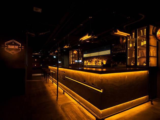 The bar at Tramline club in Dublin