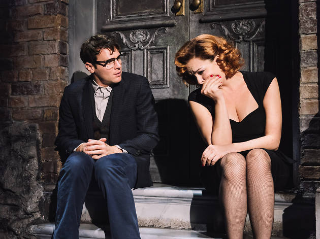 Jonathan Groff and Tammy Blanchard in Little Shop of Horrors