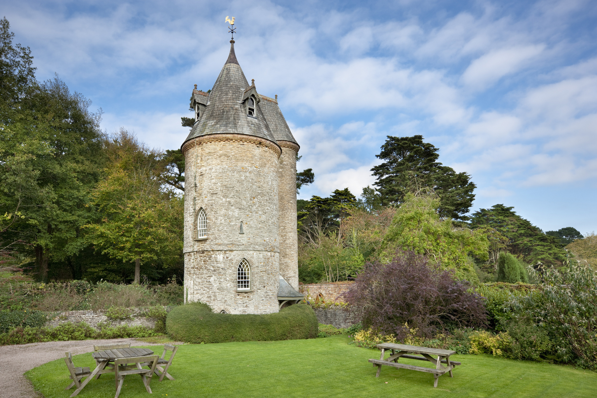 The Water Tower at Trelissick Garden, Cornwall.