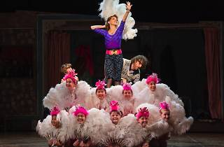 Actors on stage in production of Billy Elliot the Musical
