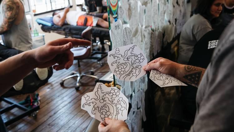Tattoo artists designs at Little Tokyo Tattoo Palour