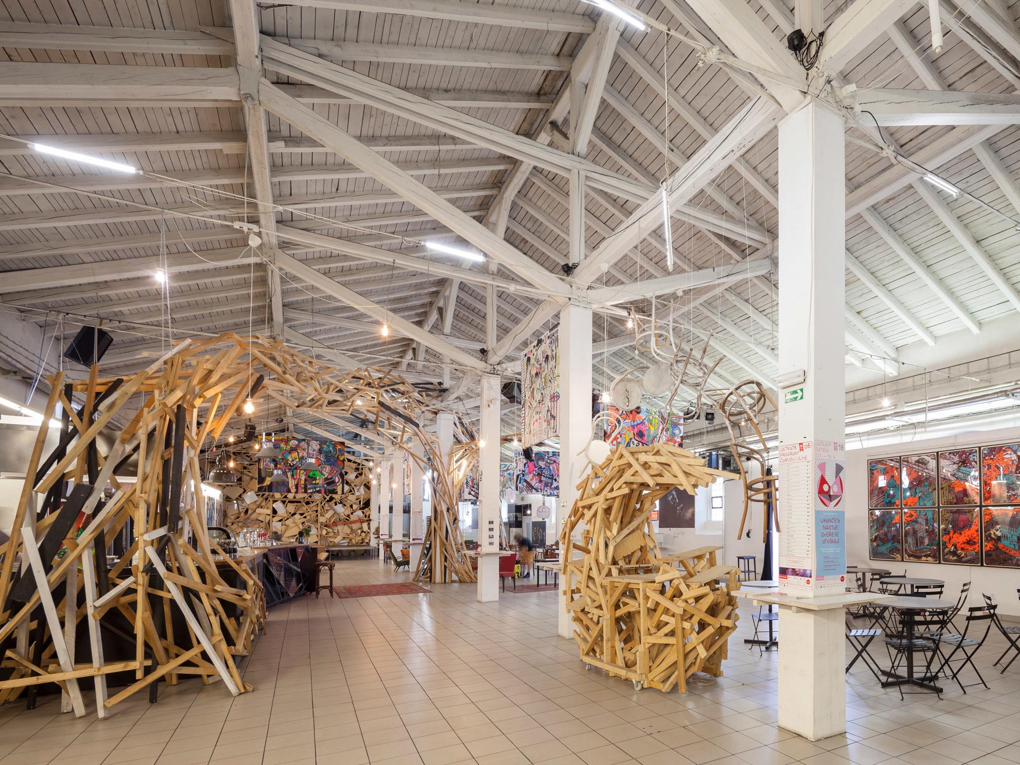 An art exhibition at Jatka78 in Prague