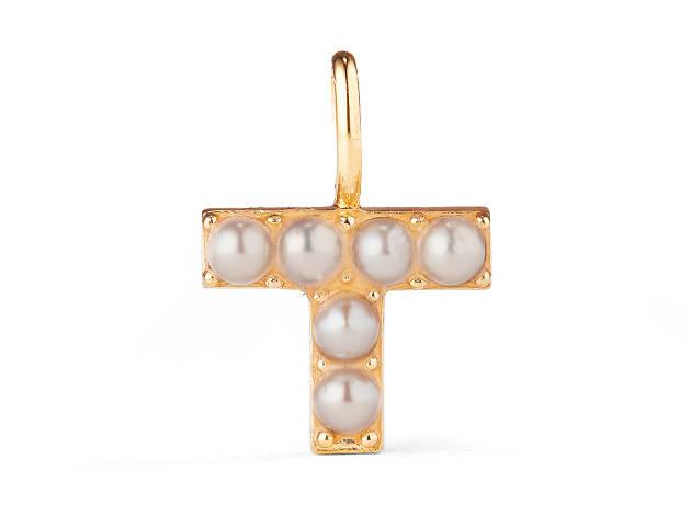 Pearl alphabet pendant