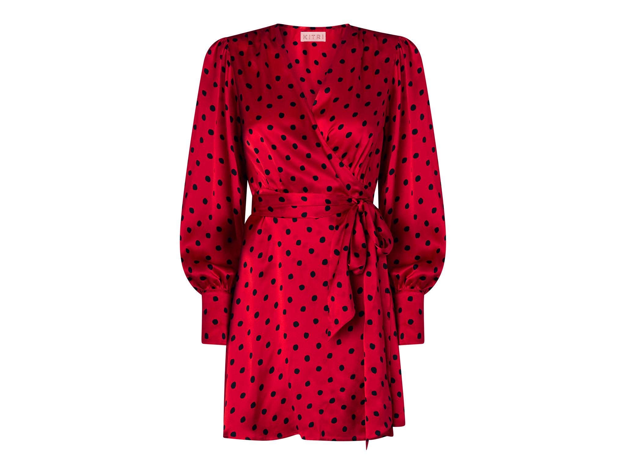 Red polka dot mini dress, £125, kitristudio.com
