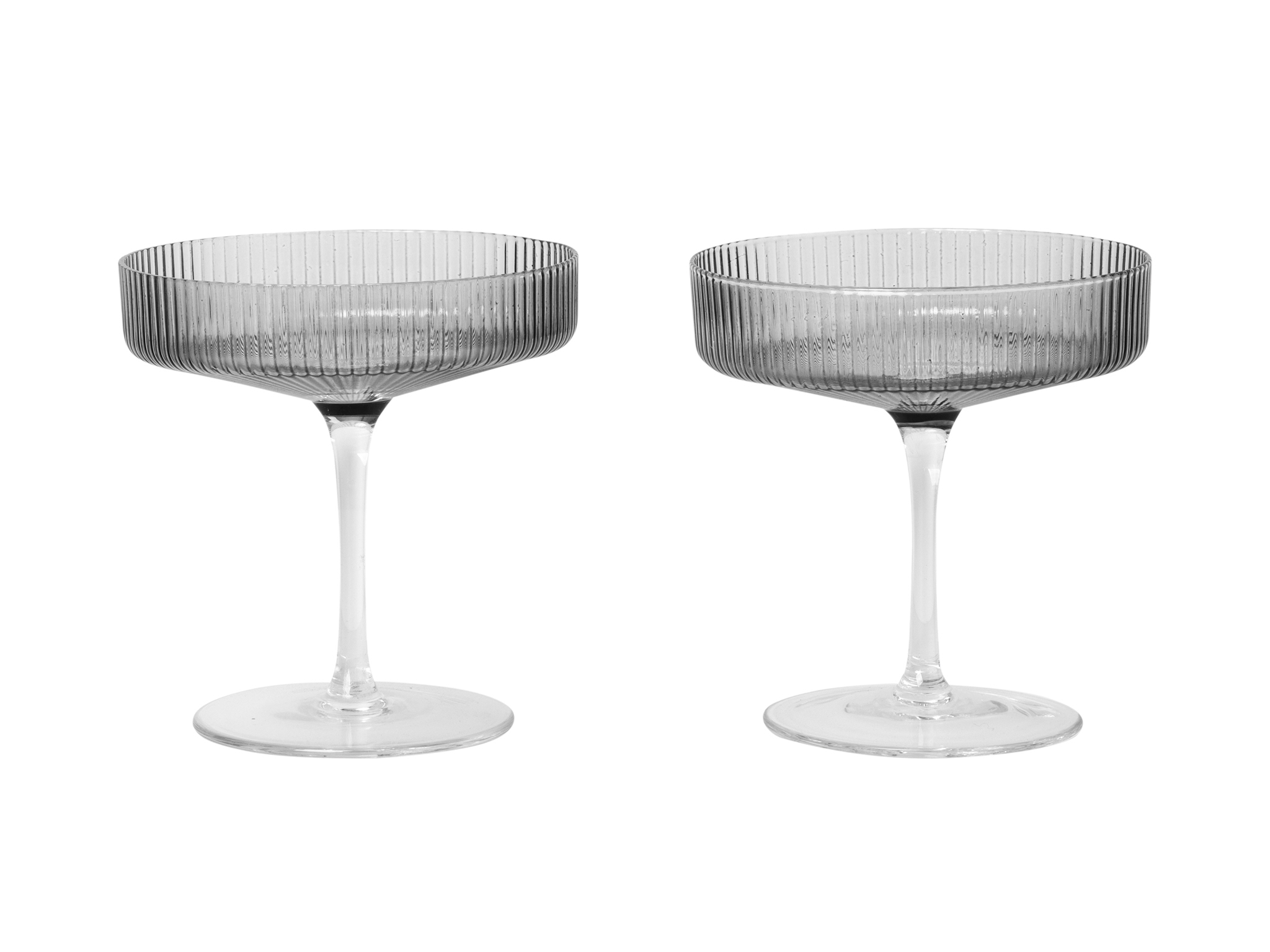 Ripple champagne saucers