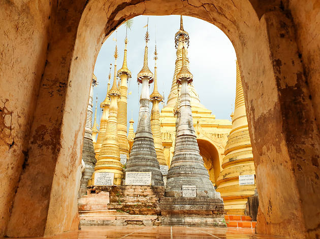 Myanmar Shwe Inn Thein Pagodas
