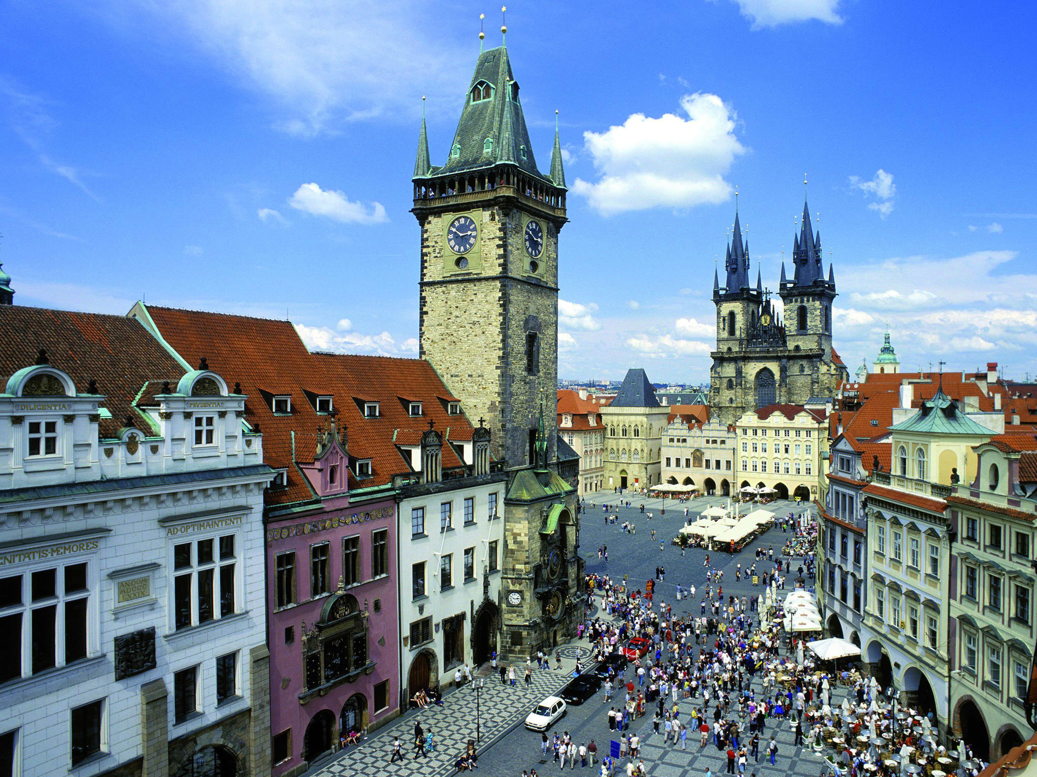 A view over Old Town Square in Prague