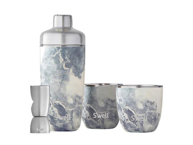 S'well Blue granite cocktail shaker
