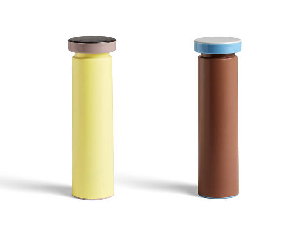 Salt and pepper mills by HAY