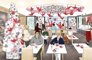 折り鶴で、想いを伝えるクリスマス