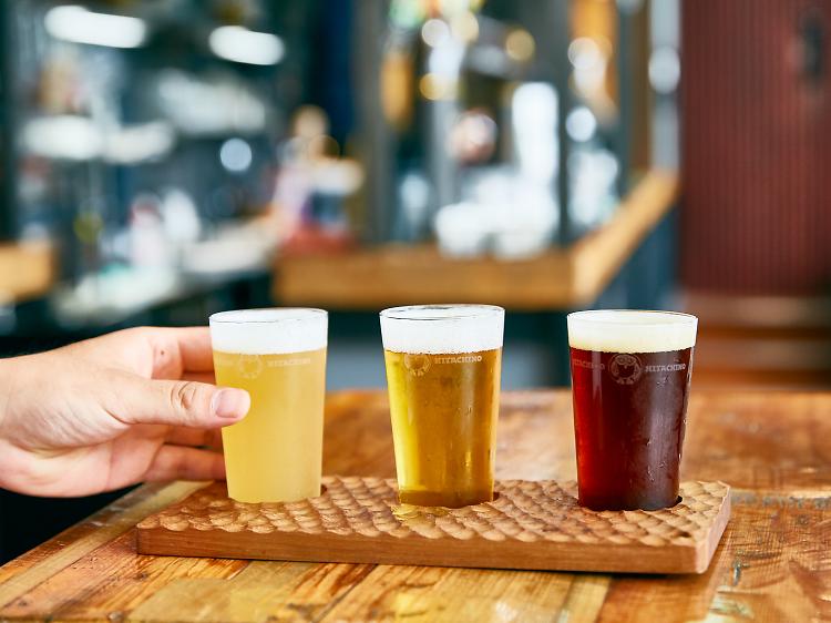 高品質のクラフトビールを味わう。