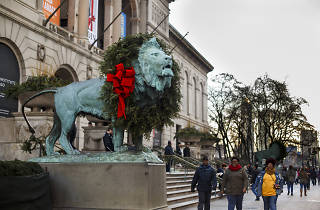 Art Institute lion wreath