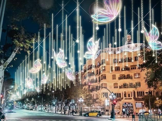 Nova il·luminació de Nadal de Passeig de Gràcia